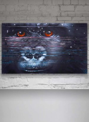 Interference Mountain Gorilla Original Painting On Canvas