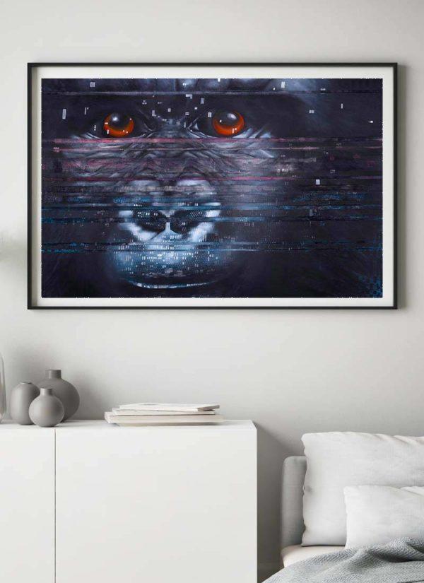 Interference Mountain Gorilla Giclee Print
