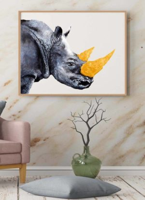 Fool's Gold Rhino giclee print