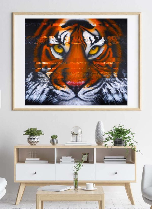 Interference - Sumatran Tiger, giclee signed print by Paul Kneen