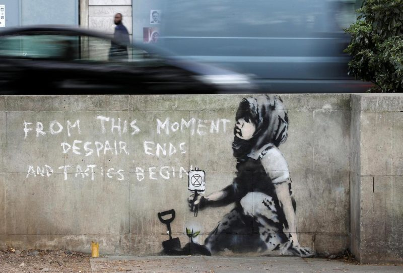 Banksy's piece in support of the recent Extinction Rebellion protests