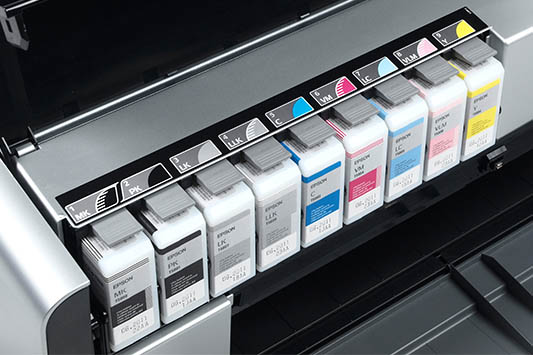 Giclee quality printers use up to nine different inks to recreate the perfect prints