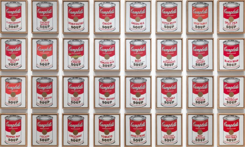 Andy Warhol's iconic soup cans