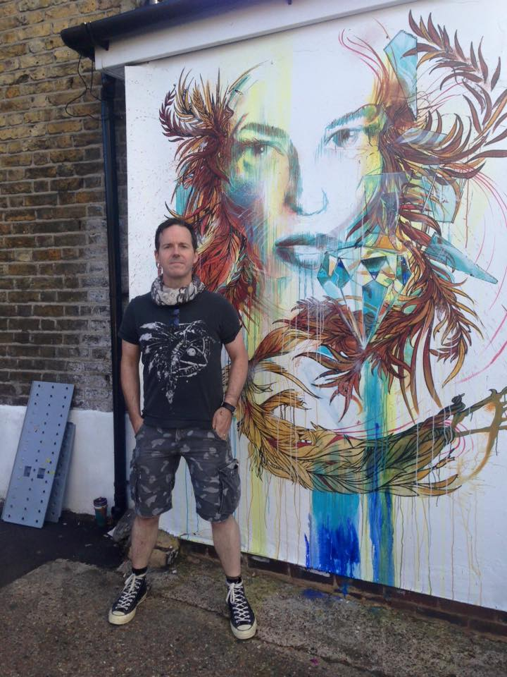 Carne Griffiths stood by one of his wonderful creations