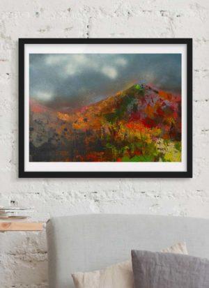 'Auburn Hills' a stunning abstract landscape print