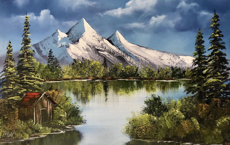 A classic example of a Bob Ross painting