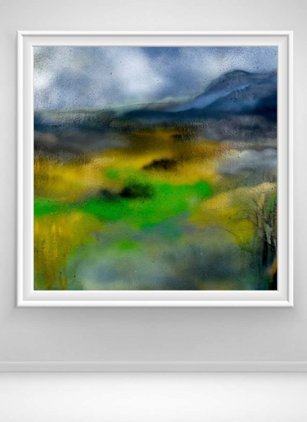 Blueberry Hills abstract landscape signed giclee art print