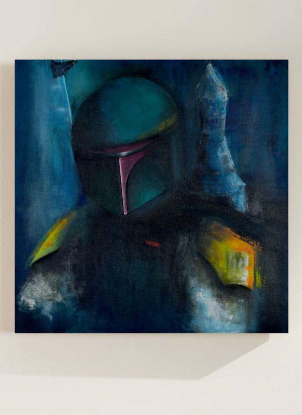 Boba Fett Original Signed Portrait Painting