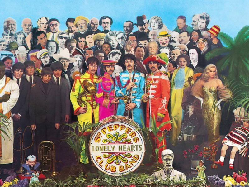 Sir Peter Blake's iconic album art for The Beatles