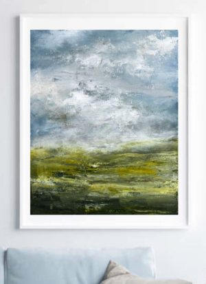 Abstract landscape signed giclee print