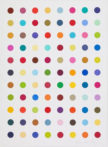 Damien Hirst's Spot Painting 'L-Isoleucine T-Butyl Ester'