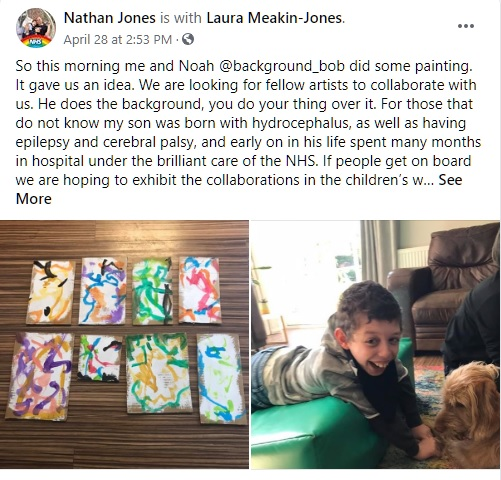 This initial post on social media has become something far bigger than Noah and his family ever expected