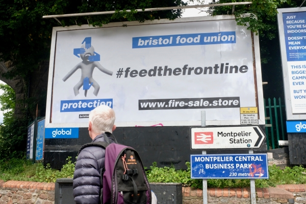 Massive Attack co founder 3D's #feedthefrontline campaign