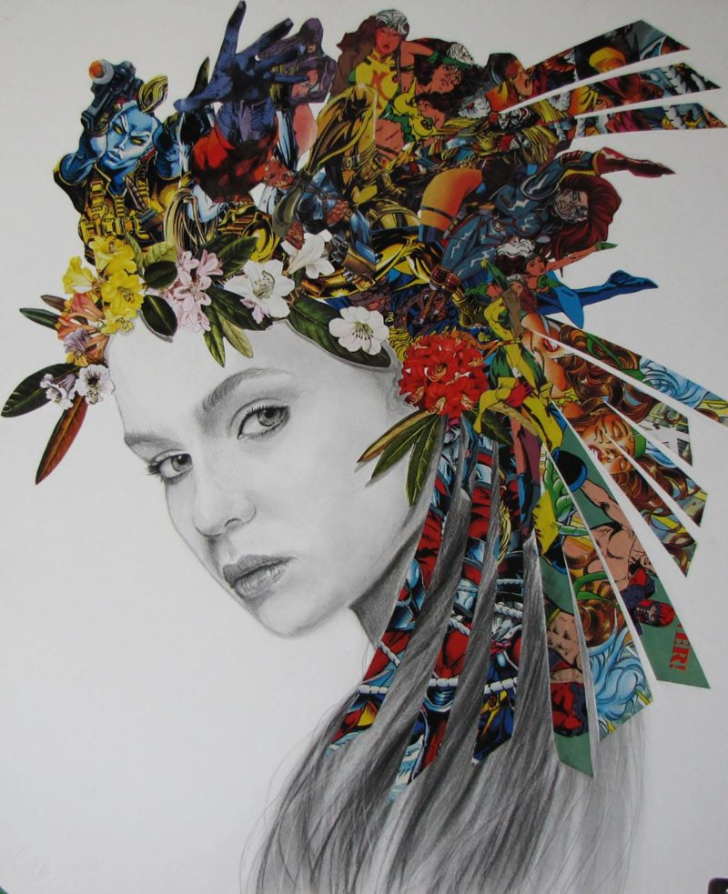 Flower Warrior by one of our talented artists Raffaella Bertolini