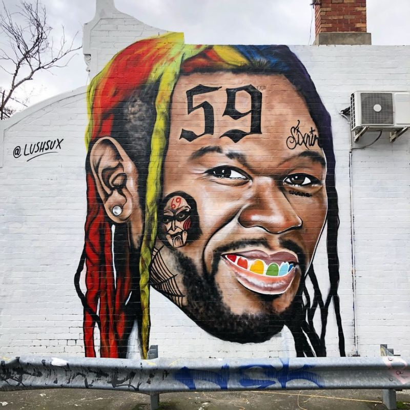 50 Cent painted as Tekashi69 by Lushsux