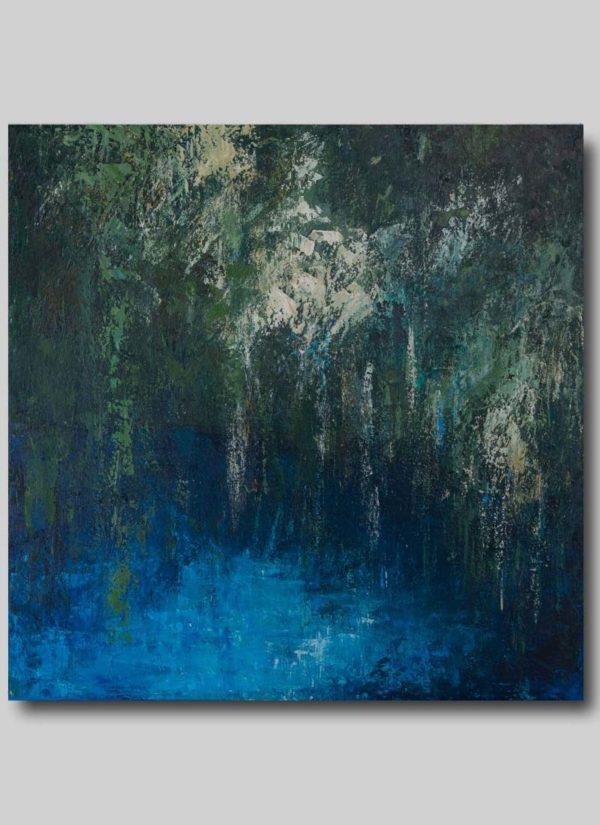 Hidden original abstract art painting