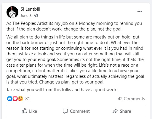 Every Monday Silent Bill shares his thoughts and offers words of encouragement