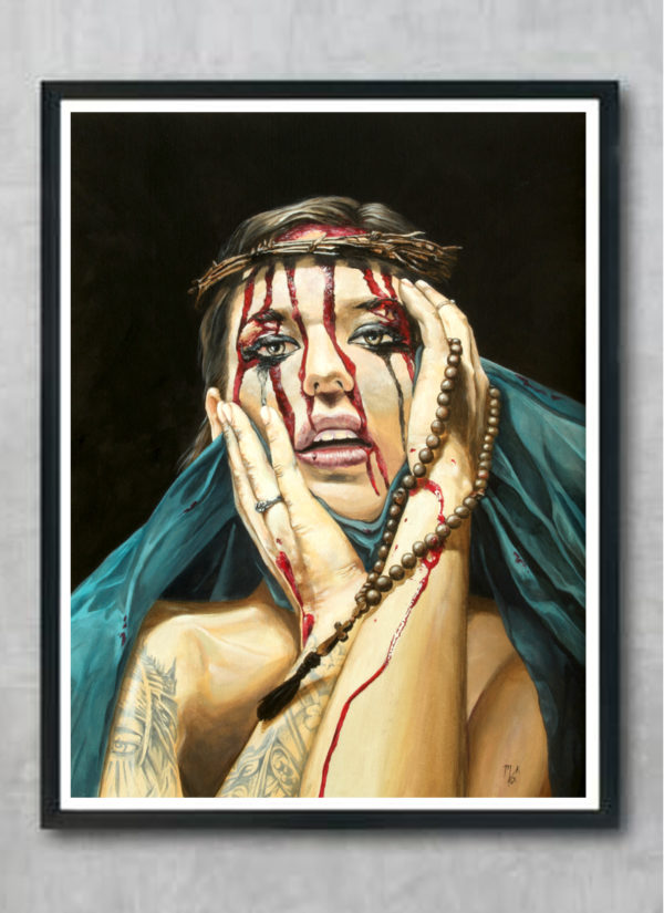 Losing My Religion Denial by Mark Fox Contemporary Giclee Print