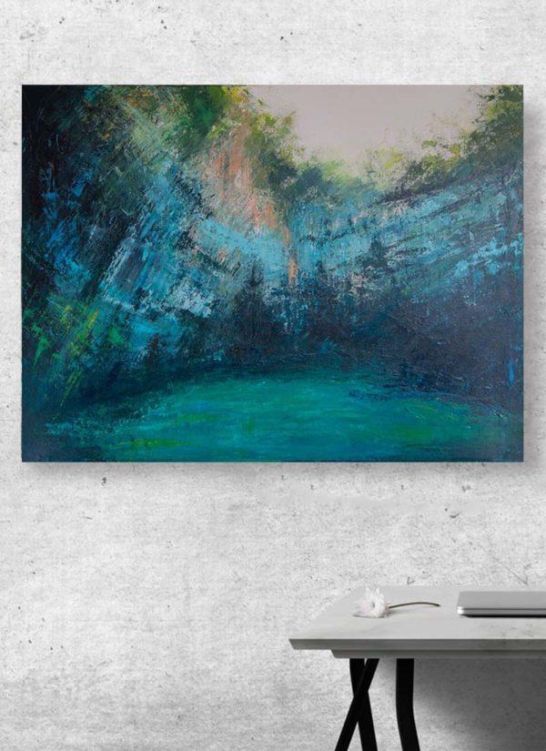'Melassani' original abstract acrylic painting