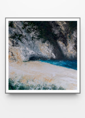 Myrtos by Fiona McLauchlan-Hyde contemporary abstract art print