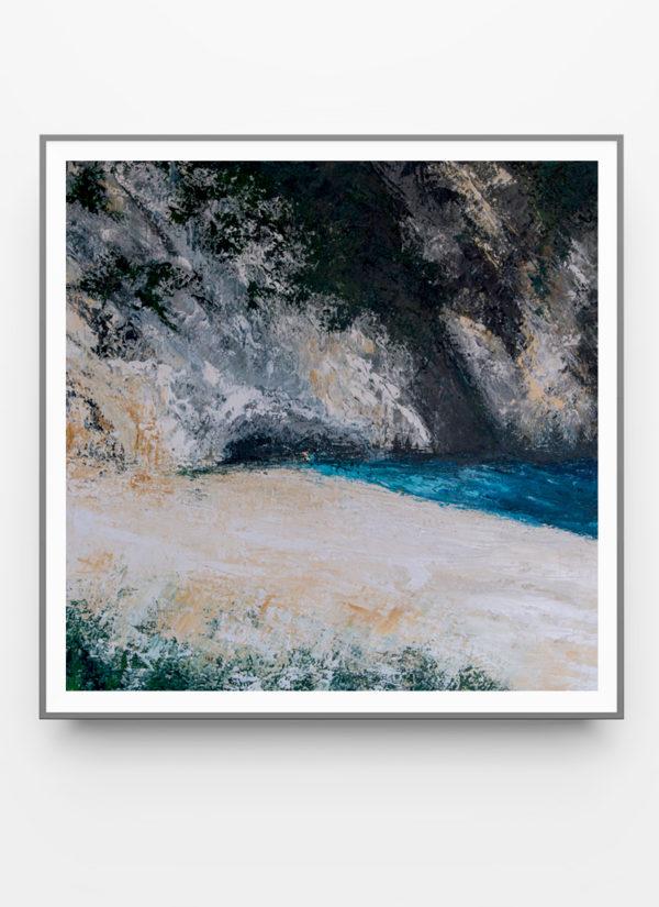 Myrtos by Fiona McLauchlan-Hyde contemporary abstract art print