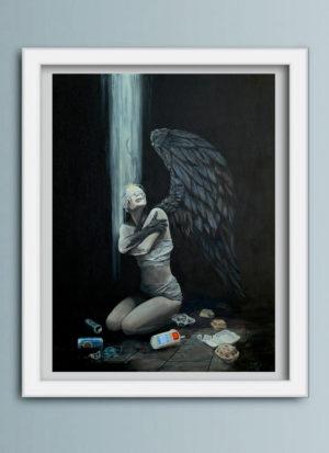 No More Time figurative art print by Mark Fox