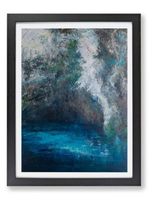 limni by Fiona McLauchlan-Hyde modern abstract landscape art print