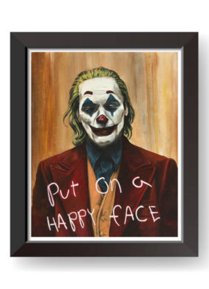 Put On A Happy Face by Mark Fox Joker Fine Art Print