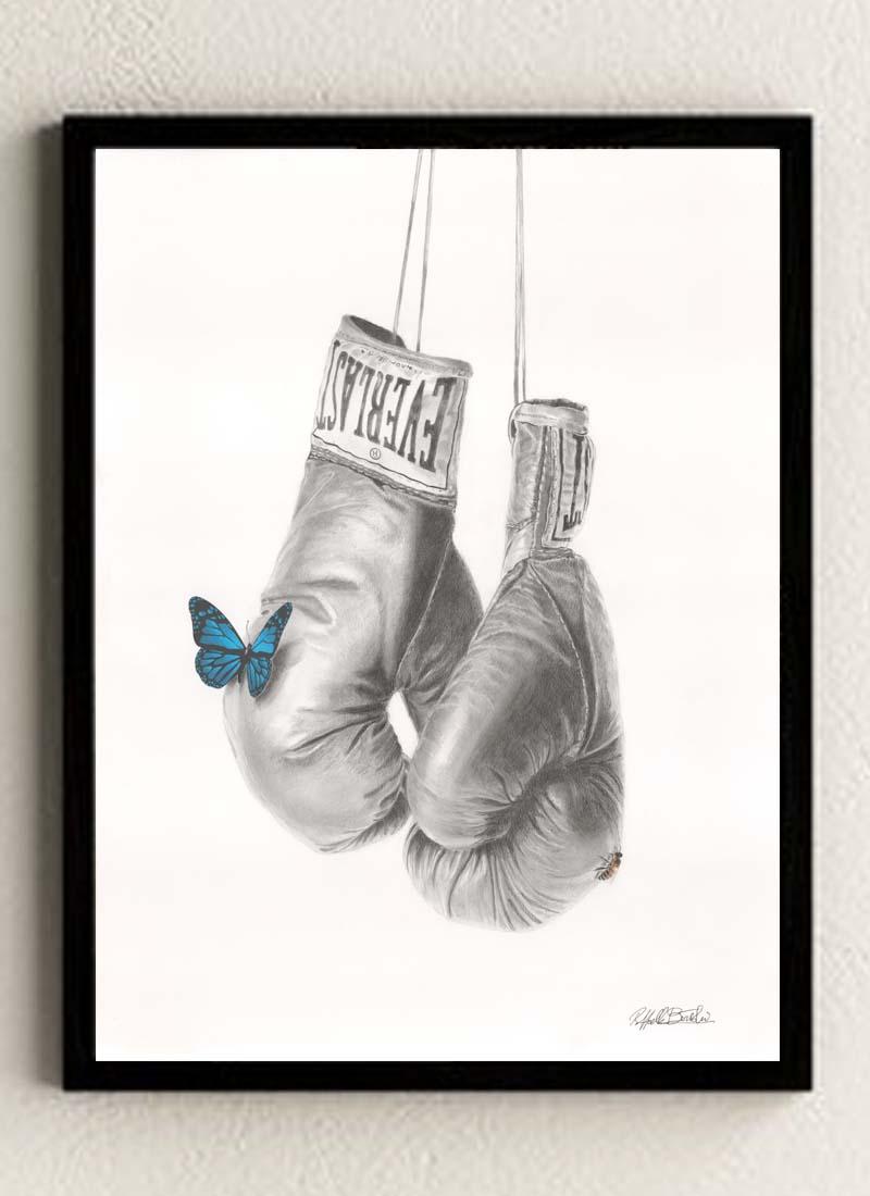 'Sting Like A Bee' giclee fine art print by Raffaella Bertolini
