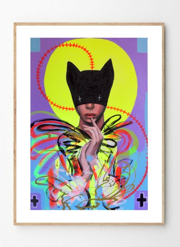 the high priestess by Virus contemporary art print