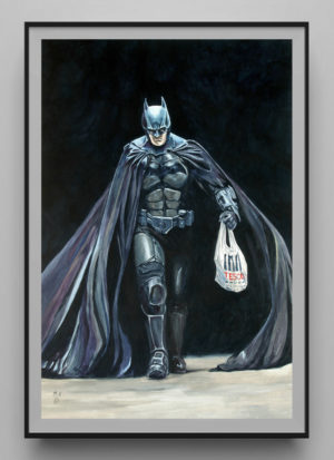Wear A Mask They Said by Mark Fox contemporary batman art print