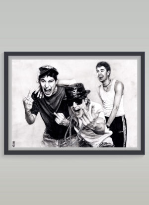 Beastie Boys tribute art portrait print by Indie Matharu