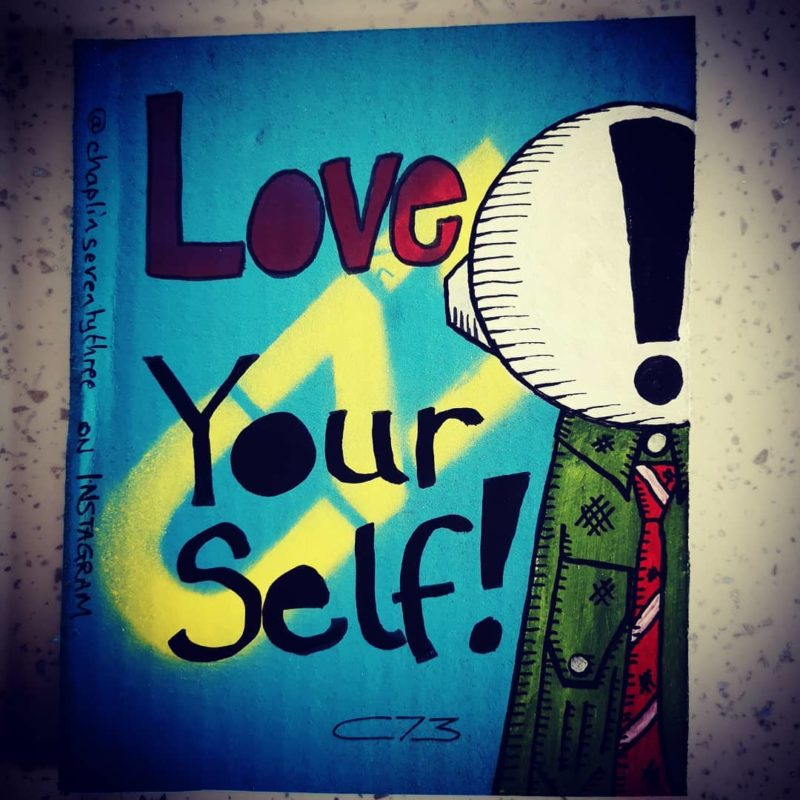 'Love Yourself' - a gentle reminder for World suicide prevention month by C73