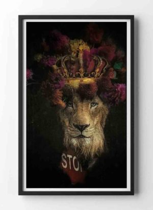 Extinction Pending animal portrait art print by Caroline Reed