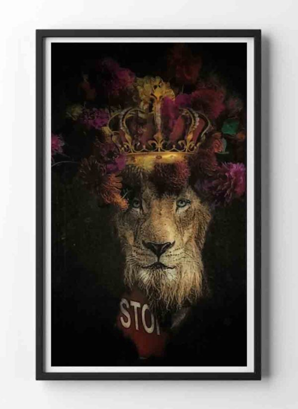 Extinction Pending animal portrait art print by Caroline Reed
