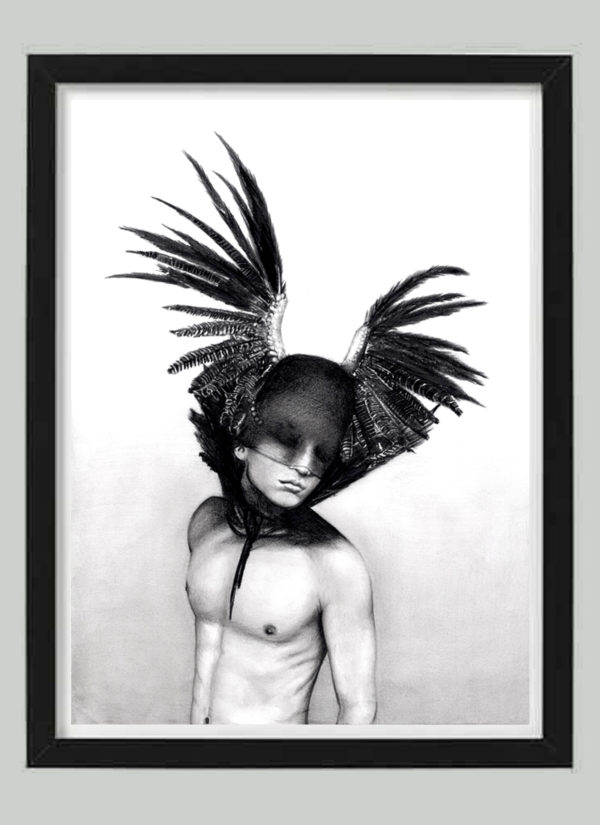 Icarus flew too close to the sun, but at least he flew fine art print by Indie Matharu