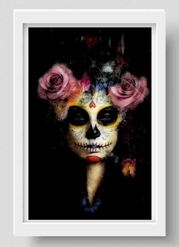 Out of the darkness portrait art print by Caroline Reed