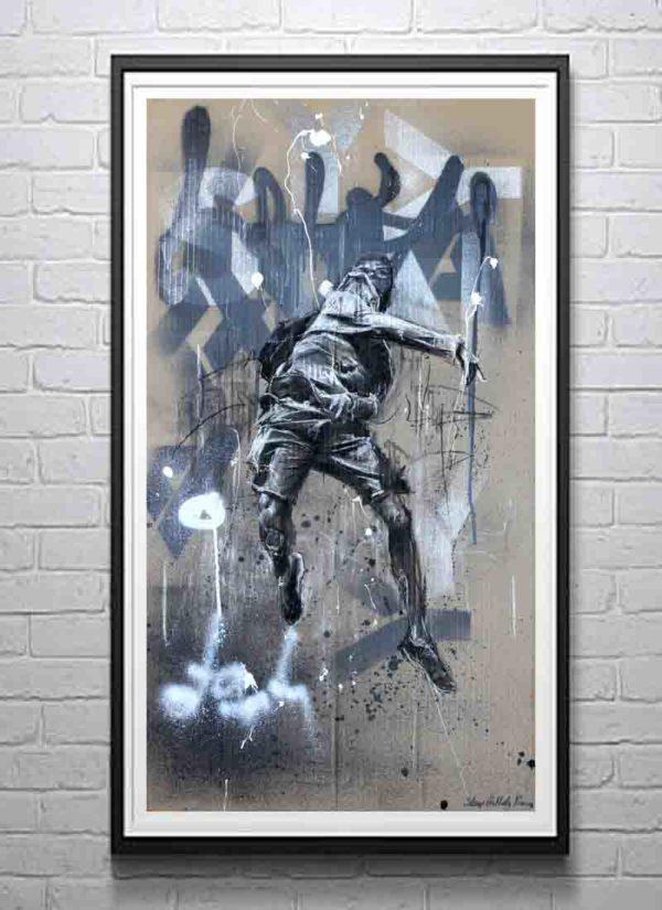 Reforgotten urban art giclee print by Stomp The Holy Bones