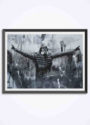 Frail powerful protest fine art print by Stomp The Holy Bones