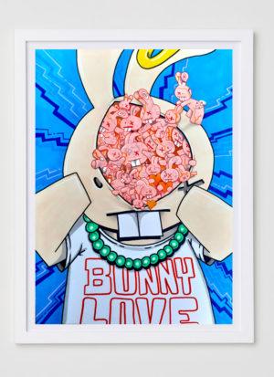 inside the mind of bunny fine art print illustration by Mr Bunny