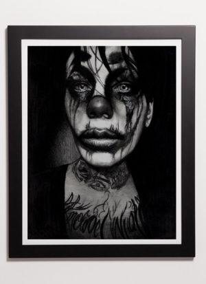 when the circus leaves town monochrome art print by Indie Matharu