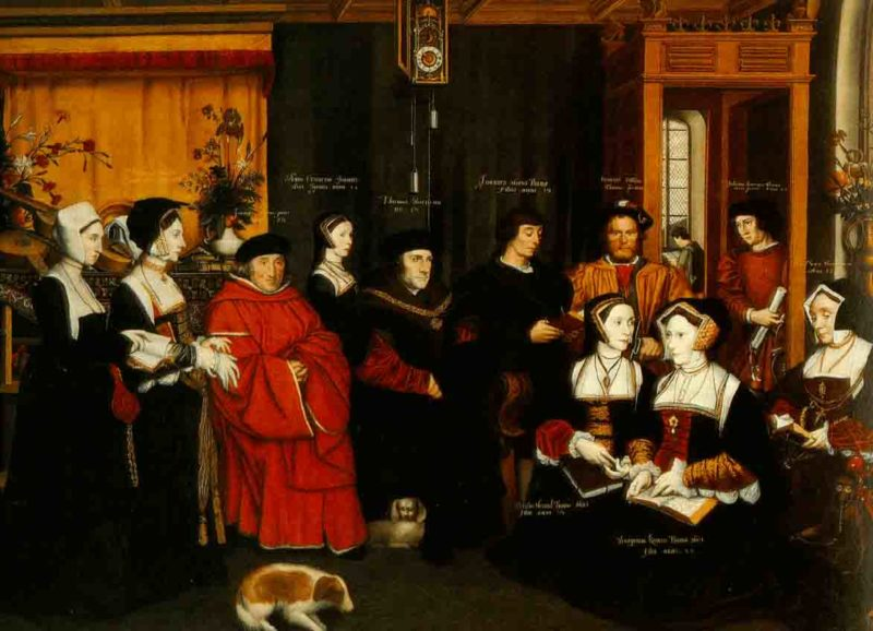 Sir Thomas More and Family by Hans Holbein the Younger