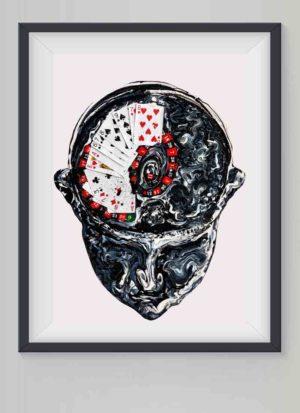 Dopamine Rush contemporary fine art print by Rebecca Ivatts