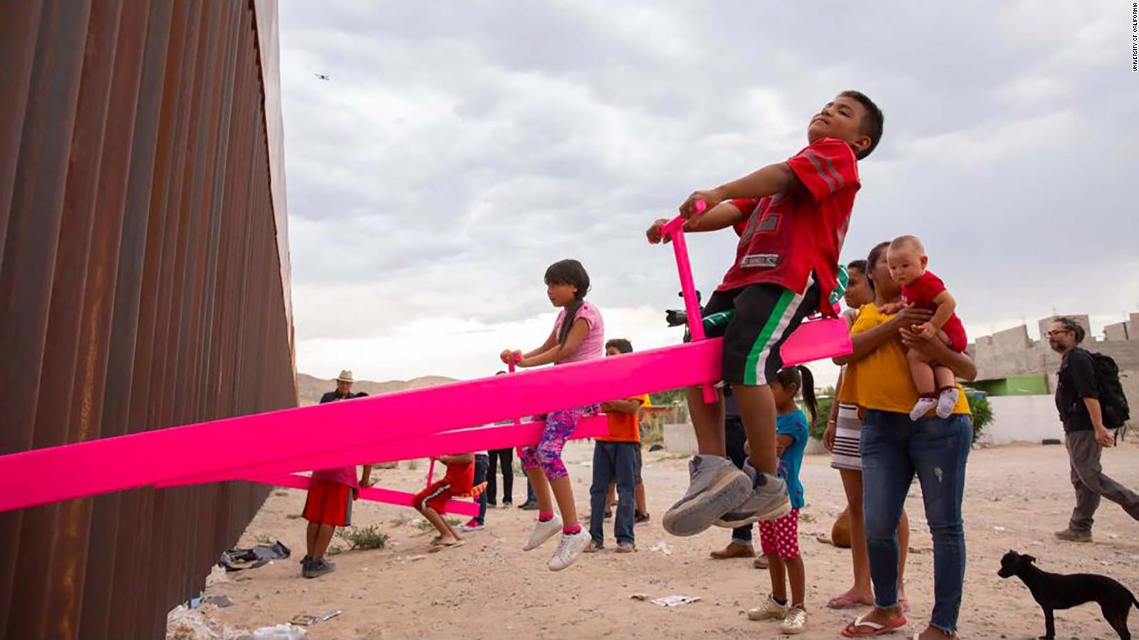 Children and Adults alike interacted with others across the border
