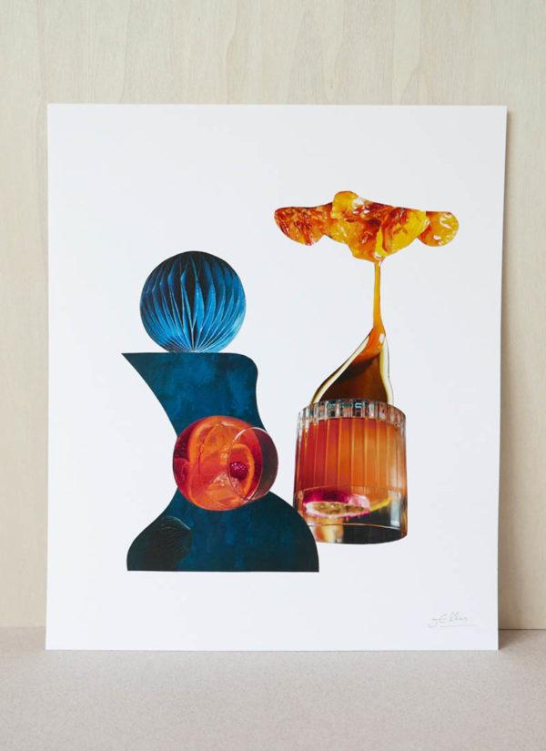 Enchanted original fine art contemporary collage by James Ellis