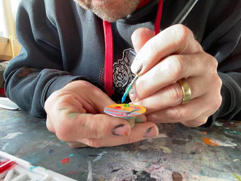 Measuring just 4cm in diameter, steady hand's required to create each masterpiece