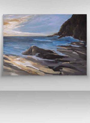 Solitude original fine art seascape by Sarah Perkins