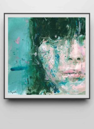 View Me contemporary portrait art print by Donna Poingdestre