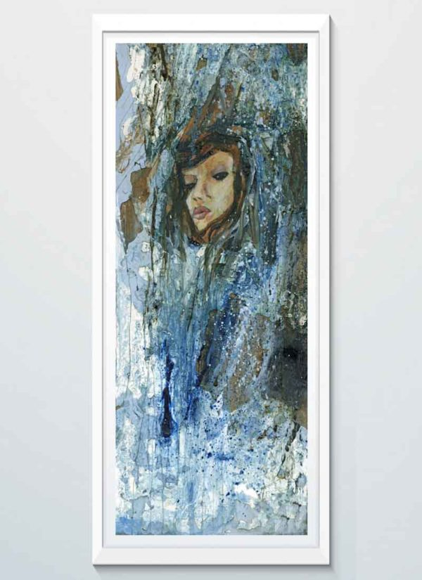 Spirit of the Sea abstract portrait art print by Donna Poingdestre