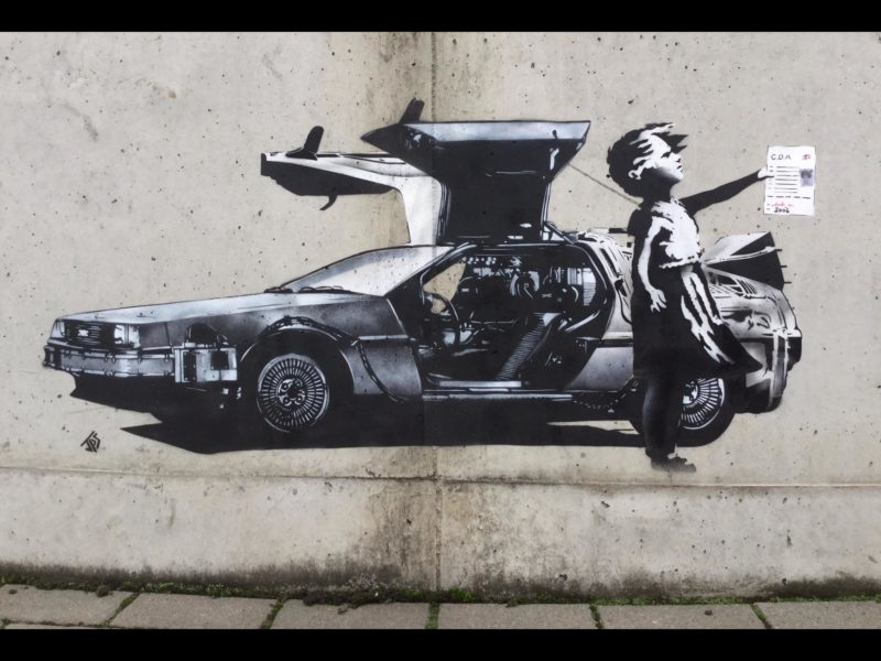 This JPS piece is directly aimed at Banksy, questioning the authenticity of the shredded Balloon girl stunt